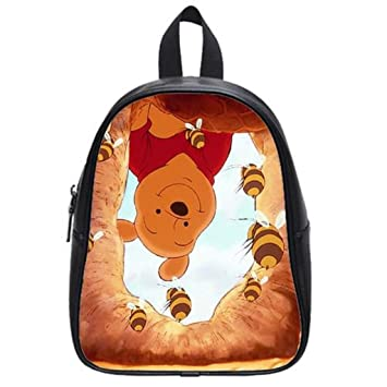 7a1a6d79640 Winnie The Pooh Custom School Bag Backpack Kids  Backpacks Shoulder Bag  Travel Bag Black-LightHouse1 Large  Amazon.co.uk  Luggage