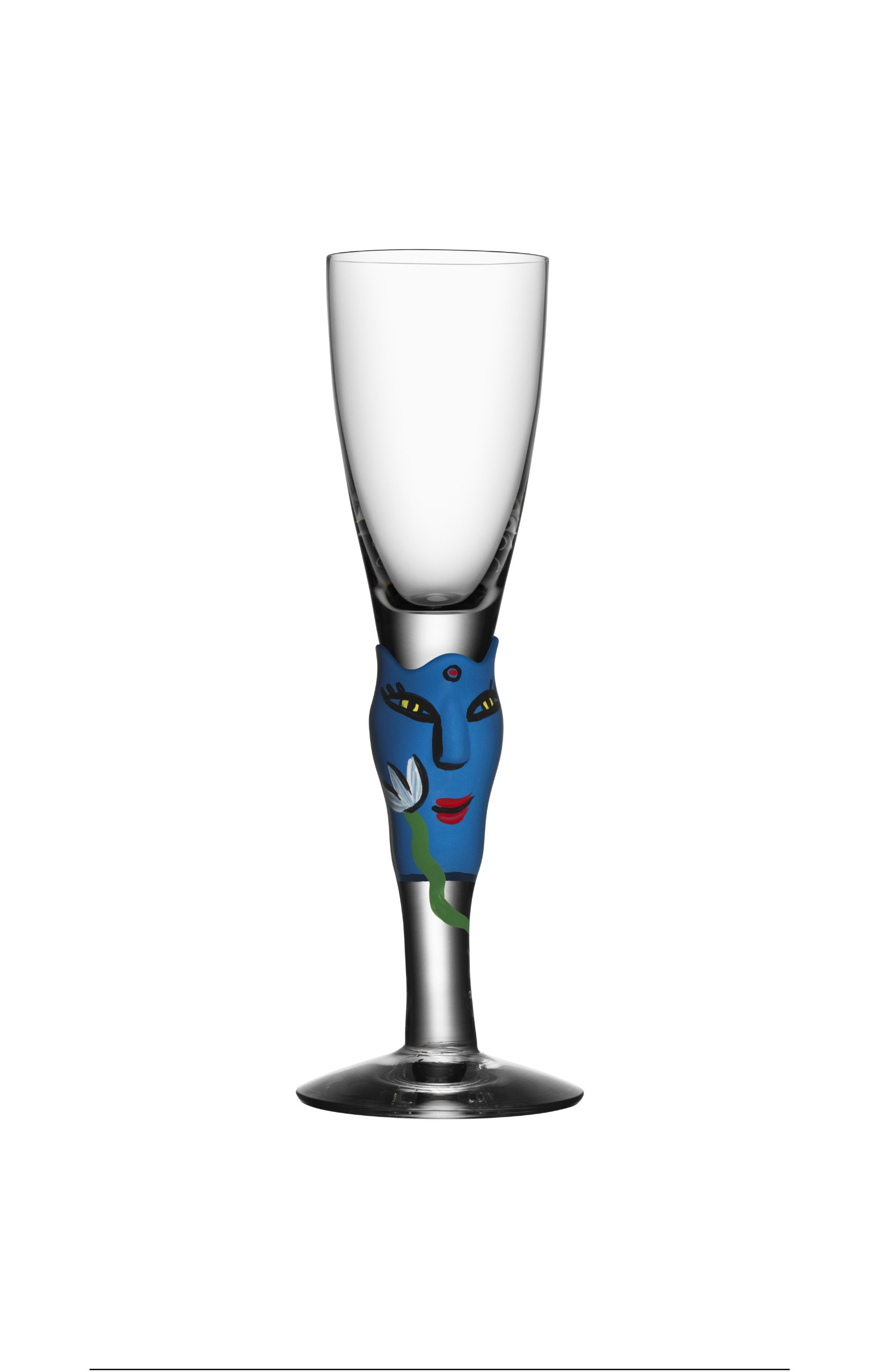 Kosta Boda Open Minds Shot Glass, Blue