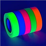 5-Pack SUPER BRIGHT UV Blacklight Reactive Fluorescent / Neon Gaffer Tape Matte Finish