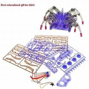 Johney Spider Robot Scientific Robot Toy DIY Building Kit for Kids