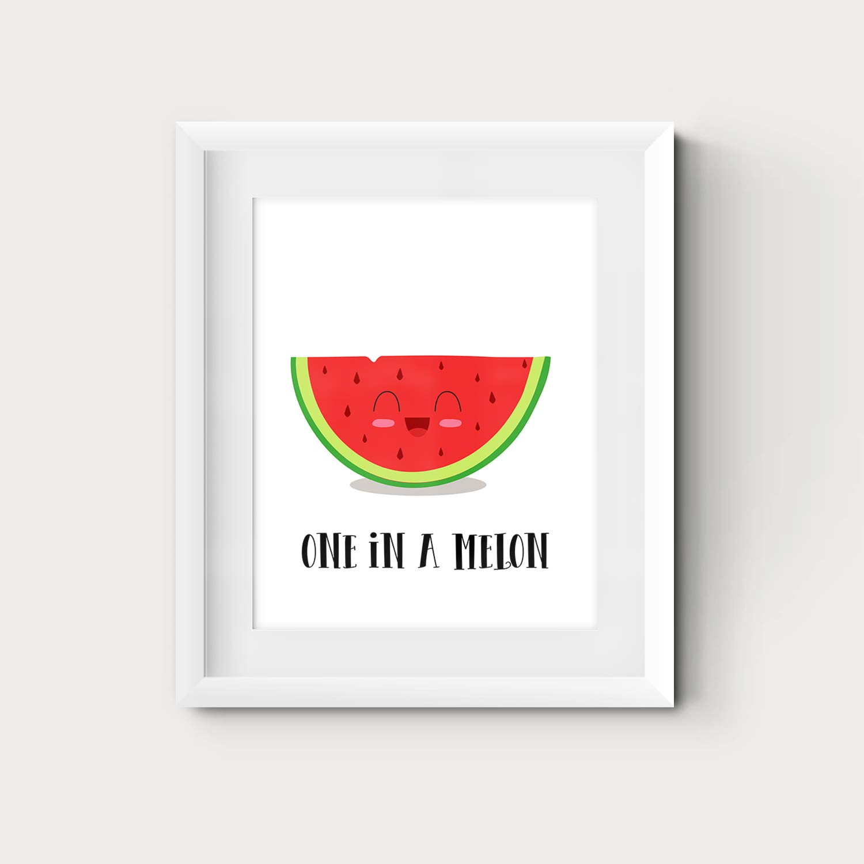 Amazon Com Watermelon Fruit Themed Kitchen Wall Art 8x10 Or 11x14 Inspirational Room Decor Print Handmade