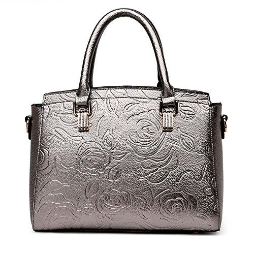 Rose BAILIANG Bag Mode Bandoulière Sac à Darkgray En Main Womens Shoulder Relief xpqwSp0g6