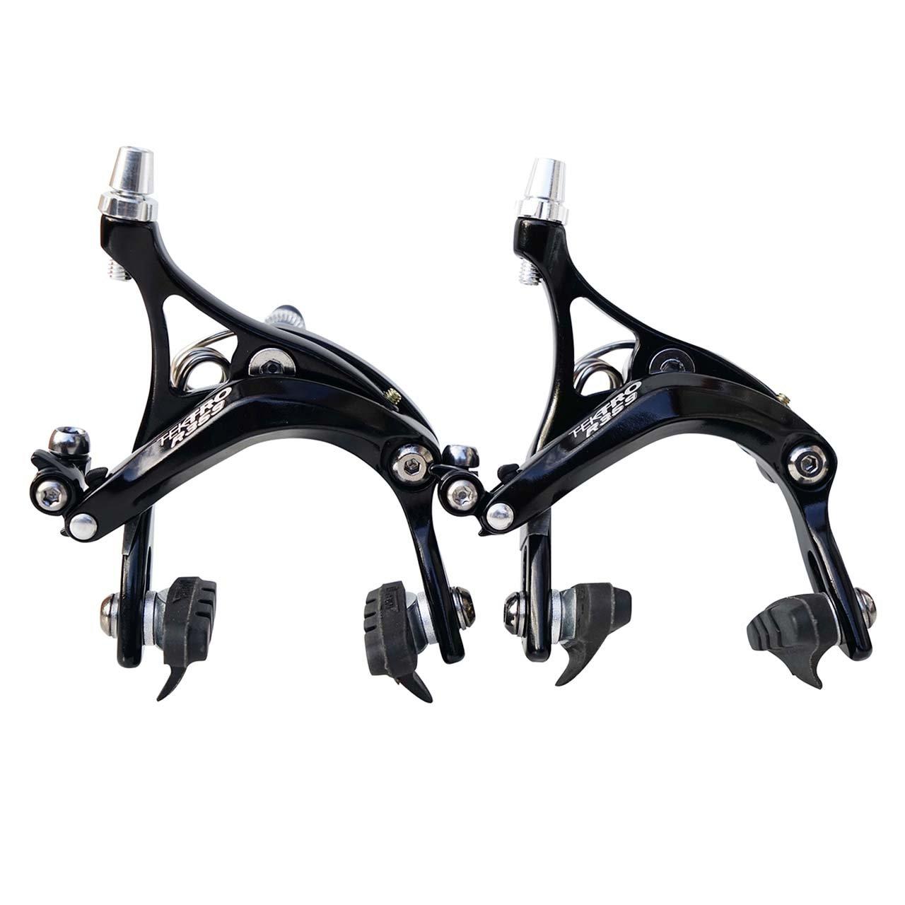 Nuevo Tektro R359 47 de 57 millimeter larga caida bicicleta freno Dormitar - negro o plata Negro negro
