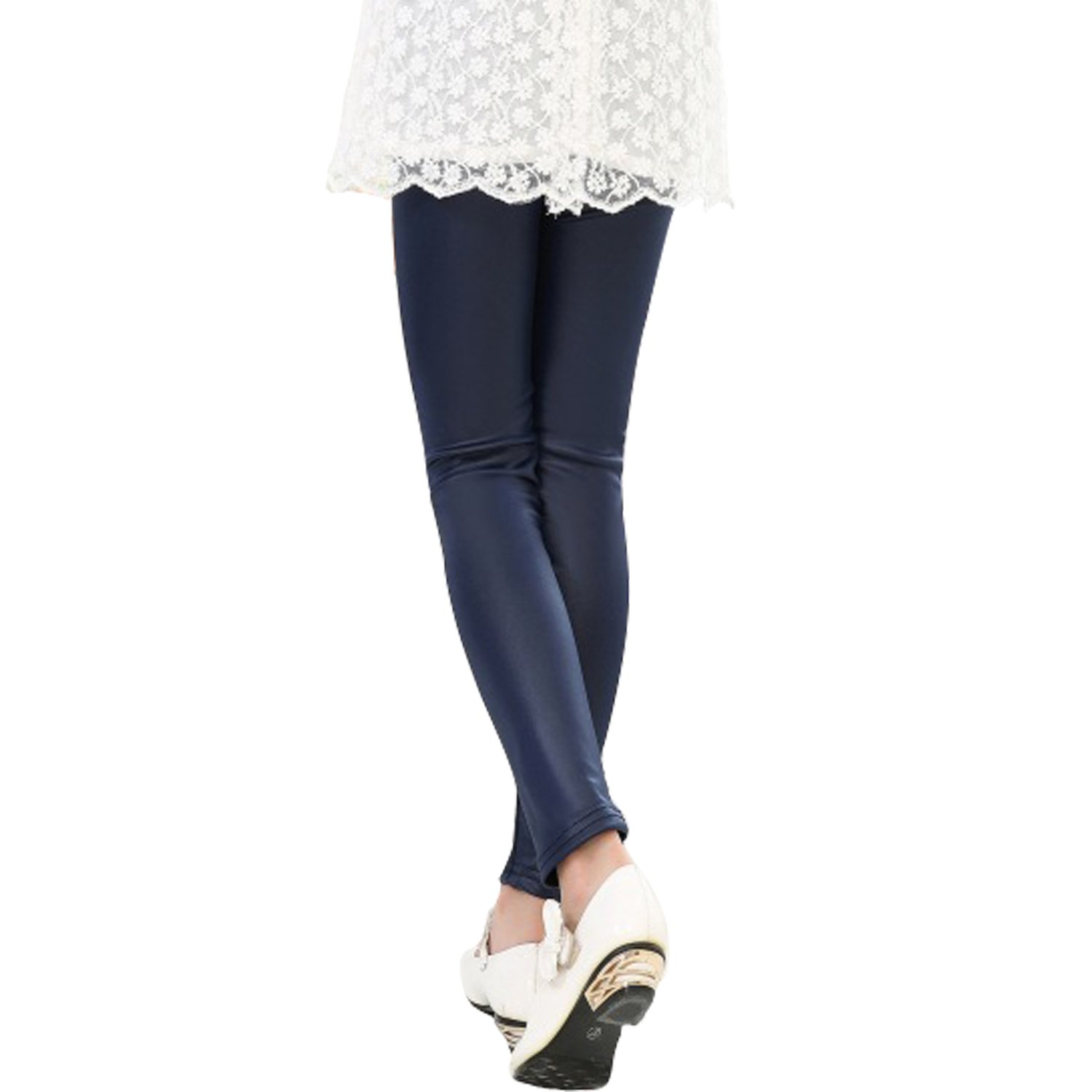 Tulucky Girls Stretchy Faux Leather Legging Teens Pants(darkblue,Tag140) by Tulucky (Image #2)