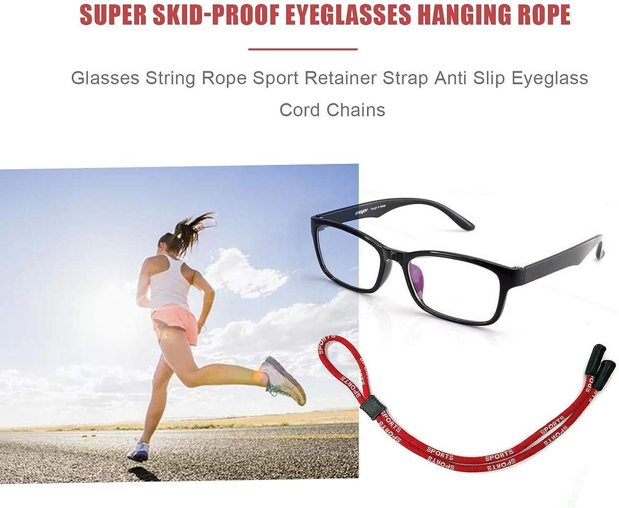 black BIYI Adjustable Glasses String Rope Sport Travel Neck Strap Retainer Strap Anti Slip Eyeglass Holder Cord Chains
