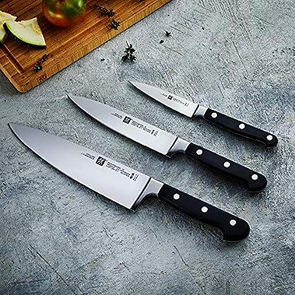 Zwilling 35602-000-0 Professional S Messerset, 3-teilig, Rostfreier Spezialstahl, Sonderschmelze, Friodur eisgehärtet, silber-schwarz 5