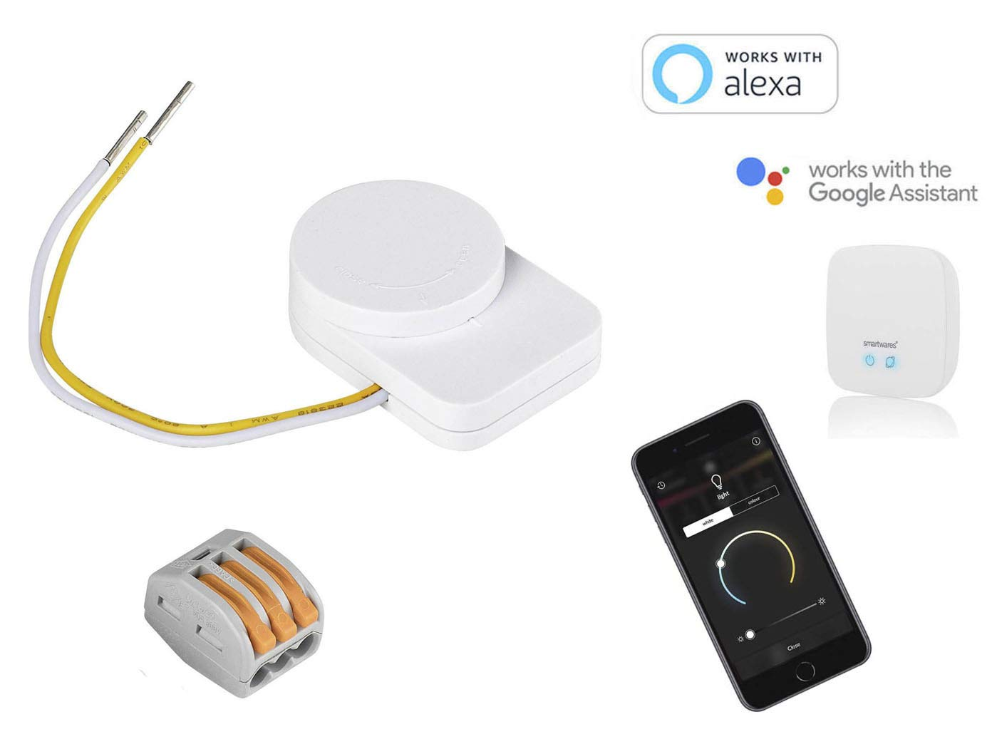 SmartHome Pro Lot de 2 interrupteurs muraux et transformateurs pour SmartHome Pro