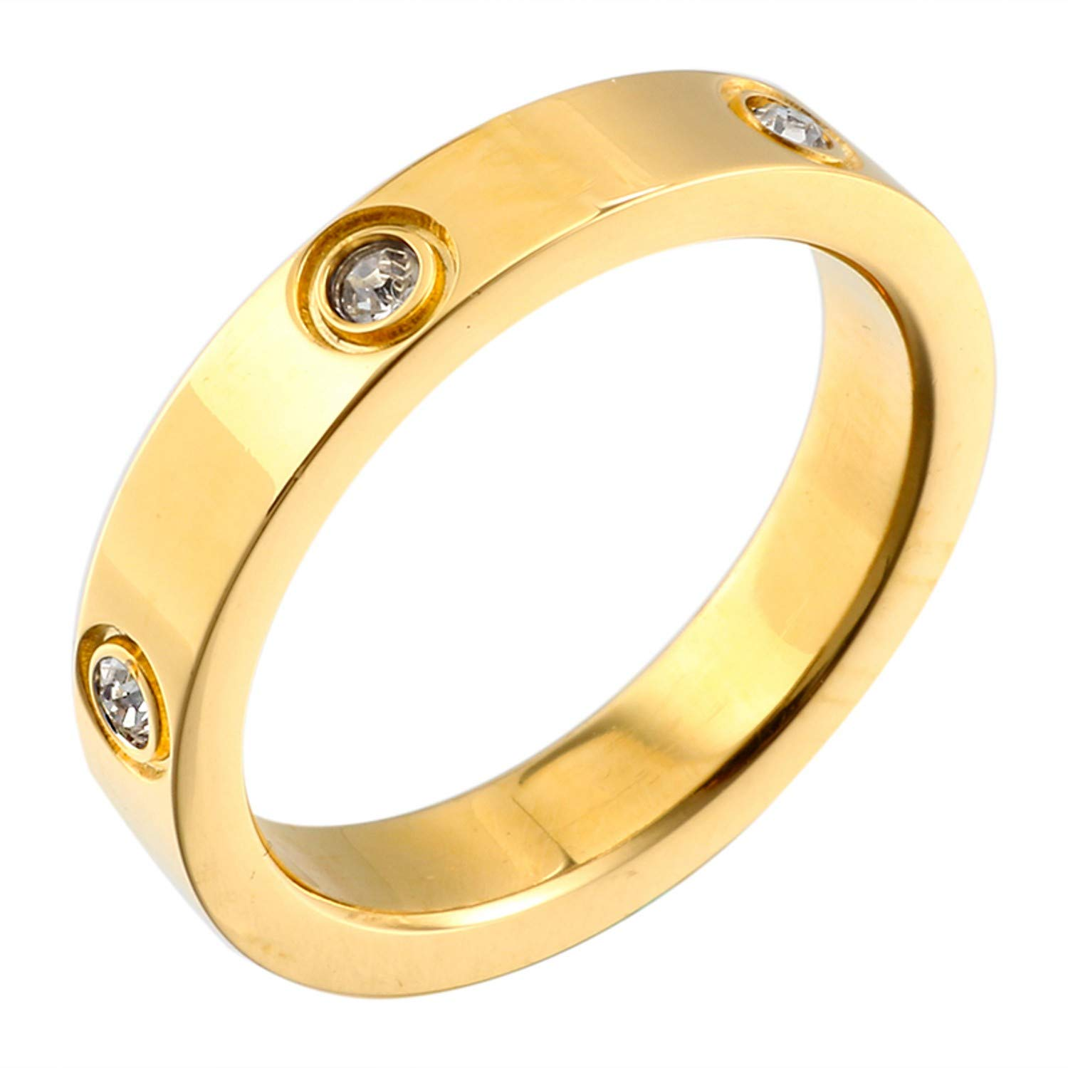 Dubeauty Love Ring Lifetime Titanium Stainless Steel Couples Wedding Engagement Anniversary Engraved Bands Silver