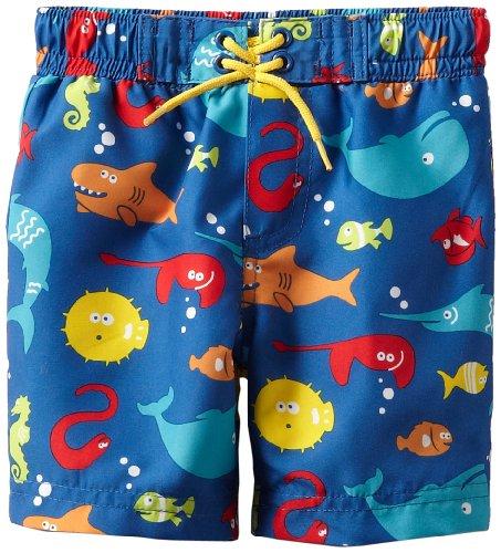 Little Me Baby Boys' Multi Fish Swimtrunk
