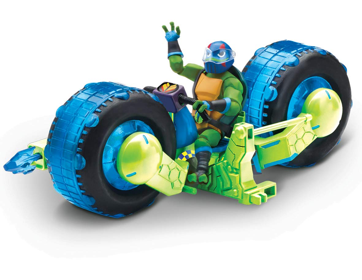 The Rise of The Teenage Mutant Ninja Turtles - Vehicle with Figure - Shell Hog with Leo Flair Leisure Products TUAB5211