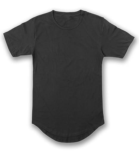 3704a4897685 Amazon.com  JD Apparel Men s Hipster Longline Drop Cut T-Shirts ...