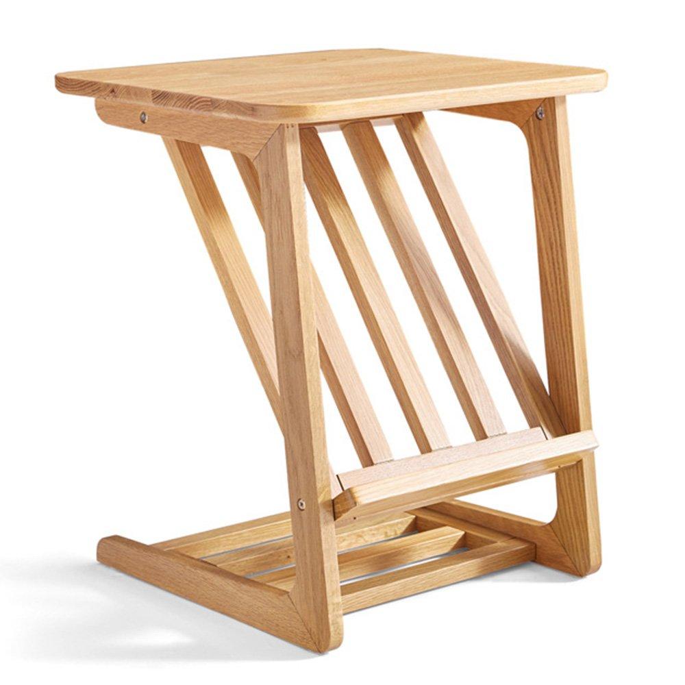 XIAOLIN フルソリッドウッドサイドテーブルコーナーテーブルコーヒーテーブルスモールテーブルノルディックリビングルームシンプルなモバイル家具ストレージラック B07DFG7DL9