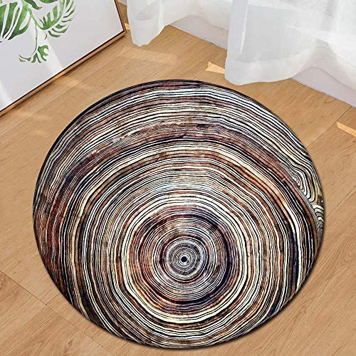 (Weiliru Children Rugs Nursery Rug - Circle Kids Rug for Boys and Girls Super Soft Perfect Addition for Toddlers Play Room Knitting Educational Area Rugs Round 23.62 Inches Diameter)