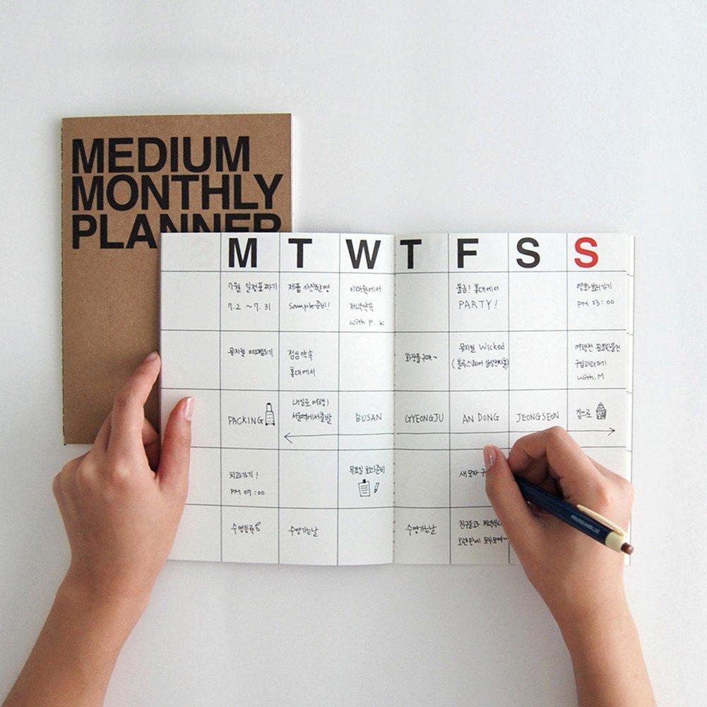 Amazon.com: JSTORY - Planificador mensual mediano (2 ...