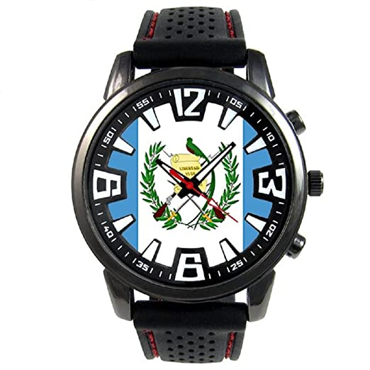 53134c00e9d3 Guatemala Reloj para hombre con correa de silicona  Timest  Amazon.es   Relojes