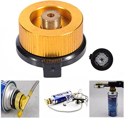 Outdoor Camping Gas Stove Burner Split Type Converter Connector Tank Adapter N7