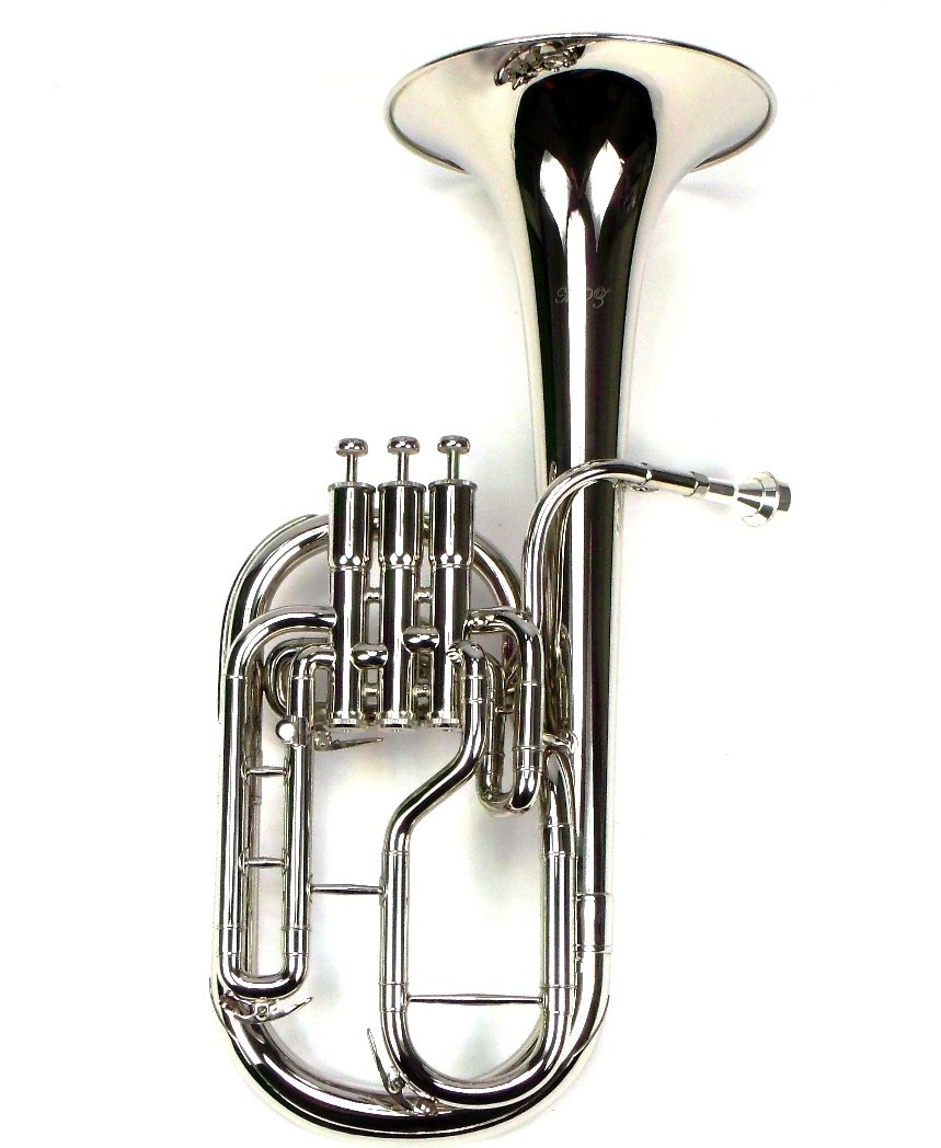 Intermediate Monel Pistons Alto Horn w/Case & Mouthpiece-Nickel Plated Finish