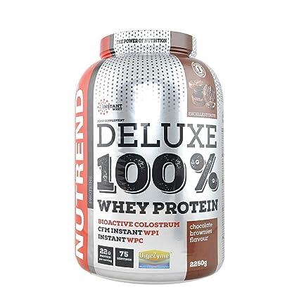 De proteína de suero Deluxe 100% en Nutrend Brownies sabor a ...