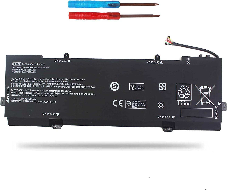 KB06XL 902499-855 902499-856 Laptop Battery for HP Spectre X360 Convertible 15 15-BL0XX 15-BL1XX 15-BL002XX 15T-BL000 15T-BL100 15-Bl012DX 15-BL112DX 15-BL062NR 15-BL075NR Z6K96EA HSTNN-DB7R TPN-Q179