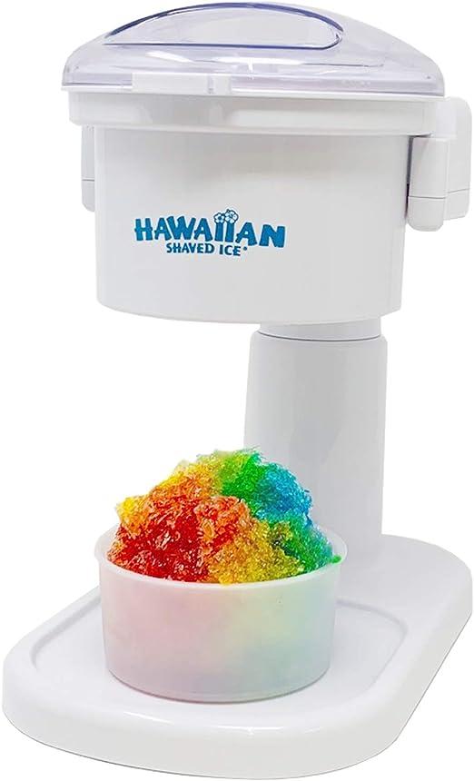 Snow Cone Machine Maker Ice Shaver Shaved Snowball Slushy Red Retro