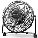 OPOLAR 9 inch USB Desk Fan, USB Powered ONLY (No Battery), Enhanced Airflow, Lower Noise, Two Speeds, Perfect Personal Cooling Fan for Home Office Table