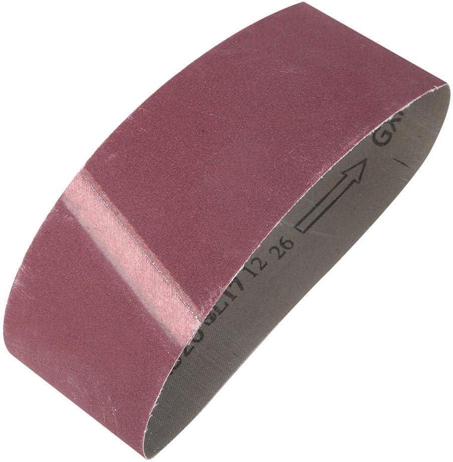 10 pi/èces Bande abrasive abrasive 457x75mm Grits Sander Courroie abrasive Oxyde daluminium 800