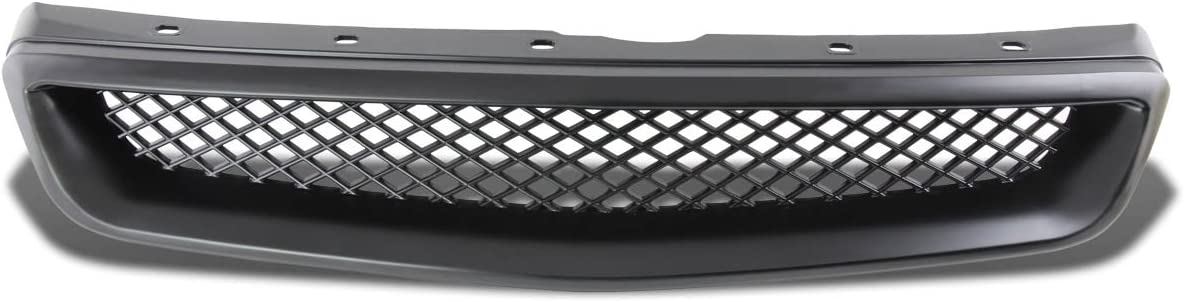 For Honda Civic ABS Plastic Type-R Mesh Style Front Grille Black 6th Gen EJ EK EM