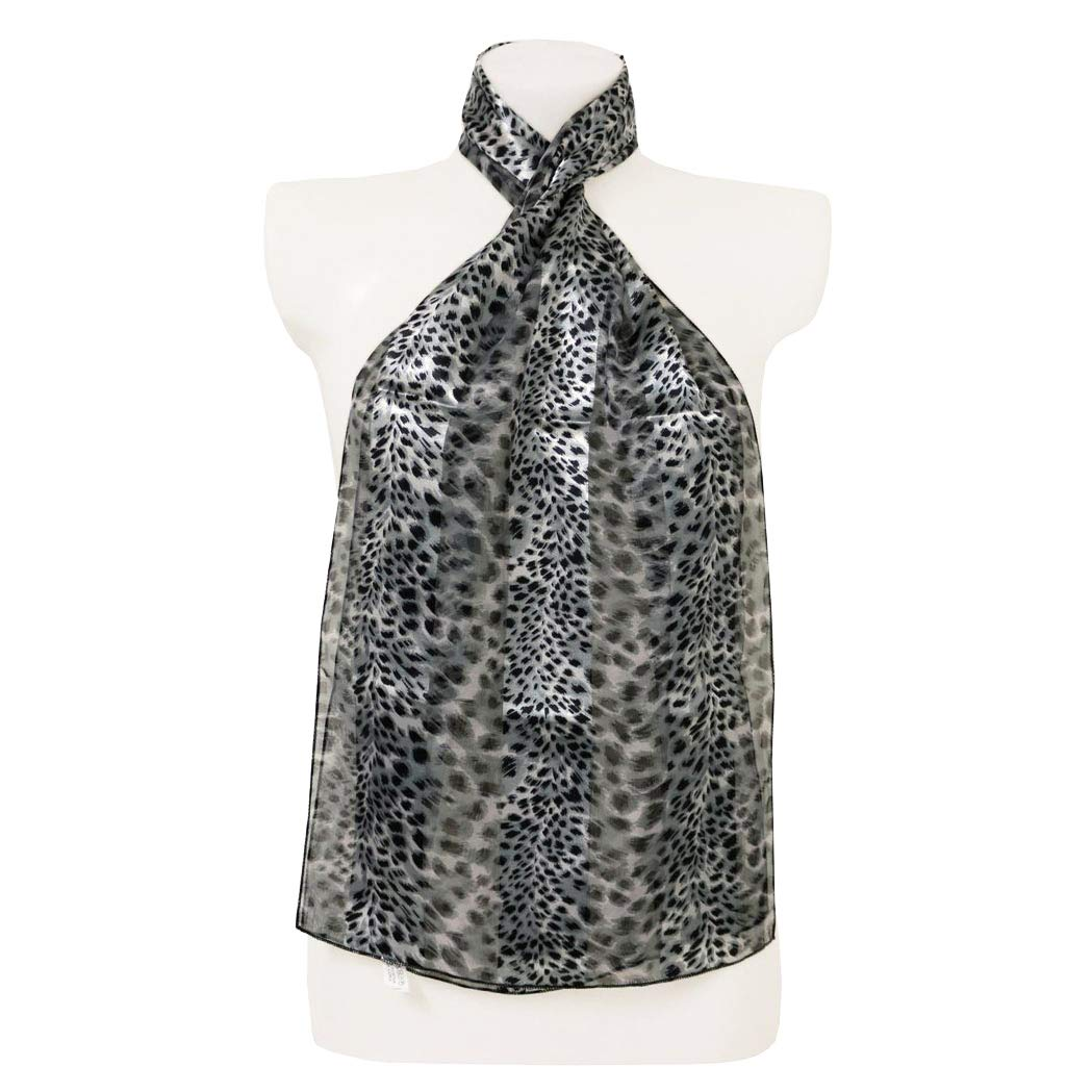 No1 Gifts® Polka Dot Satin Stripe Scarf