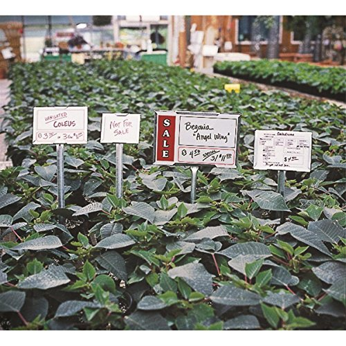 Waterproof and Reusable Vinyl Sign Cards for use with Galvanized Steel Plant Sign Holders, 11