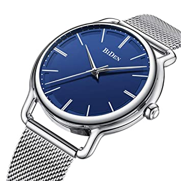 SW Watches Marca Biden Reloj De Lujo para Hombre Relojes De Pulsera para Hombre De Negocios con Calendario Moda Casual Acero Relojes A Prueba De Agua ...
