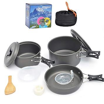 Juego de utensilios de cocina para acampar, vajilla para ...