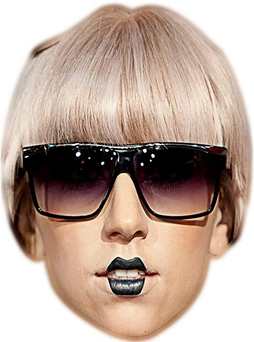 Lady Gaga (gafas) celebridad máscara, cartón cara y disfraz ...