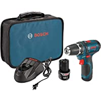 Bosch PS31-2A-RT 12V Max Lithium-Ion 3/8 in. Cordless Drill Driver Kit (2 Ah) (Renewed)