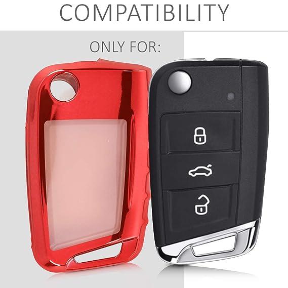 Amazon.com: Kwmobile - Carcasa para llave de coche VW Golf 7 ...