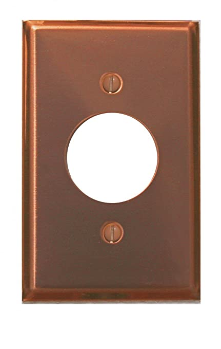 Switchplates Bright Solid Copper Single Receptacle Switch Plate