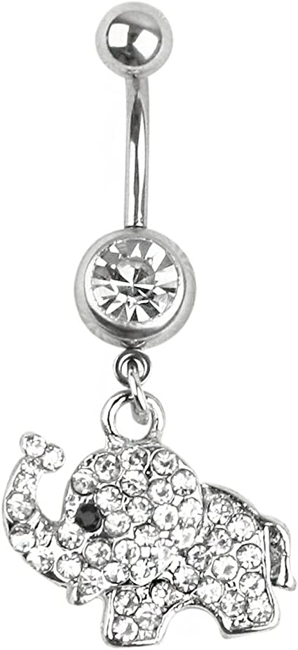 Double jewelled belly bars 8mm bottom ball large 6mm top ball body jewellery
