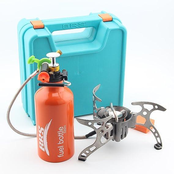 Brs-8 a Multi Fuel extérieur Réchaud à gaz Poêle à pétrole Split Réchaud de camping pliable