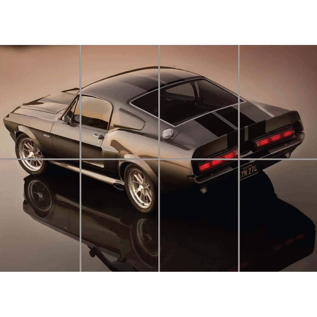 Eleanor 1967 ford mustang shelby gt500 giant poster art print b1240