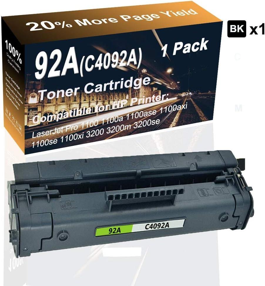 Laser Printer Toner Cartridge Replacement for HP 92A C4092A Black Compatible Laserjet Pro 3200 3200m 3200se Printer Toner Cartridge High Capacity 1-Pack
