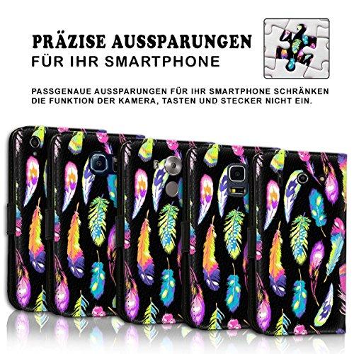 Wallet Book Style Flip Handy Tasche Case Schutz Hülle Schale Motiv Etui für Apple iPhone 6 Plus / 6S Plus - Design Flip MVD165