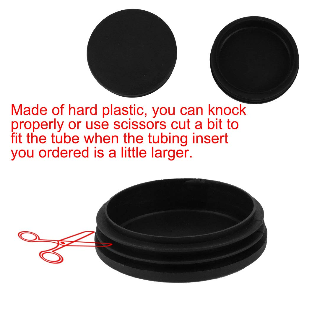uxcell 50mm Diameter Plastic Cap Chair Table Legs Round Tube Insert 50 Pcs by uxcell (Image #6)