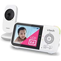 """VTech VM819 Video Baby Monitor with 19Hour Battery Life 1000ft Long Range Auto Night Vision 2.8"""" Screen 2Way Audio Talk…"""