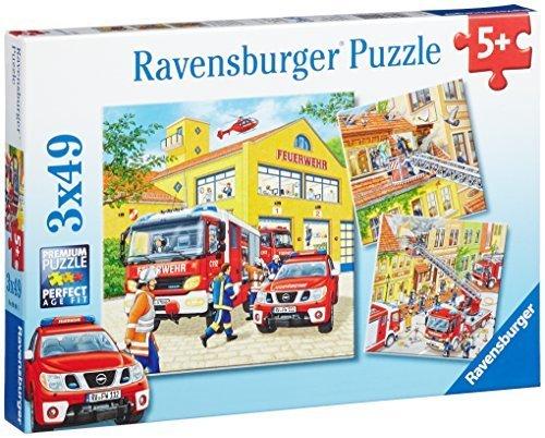 Ravensburger - 09401 - Puzzle - Les Pompiers au Travail - 3 x 49 piÇùces by Ravensburger