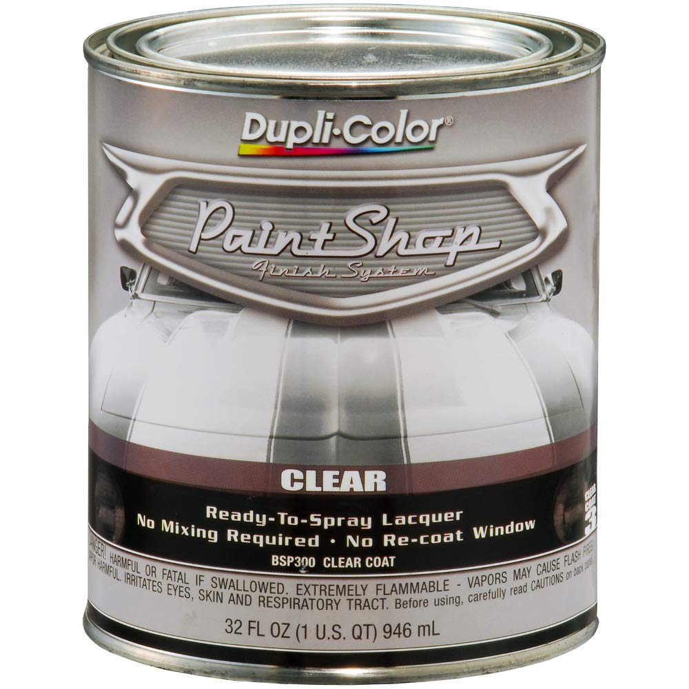 Dupli-Color (BSP300-2 PK 'Paint Shop' Gloss Clear Finish System Top Coat - 1 Quart, (Case of 2)