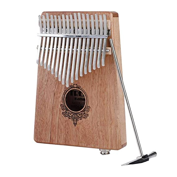 Caoba Port/átil Kalimba Pocket Size Piano con Build-in Pickup Dilwe 17 Clave Pulgar Piano
