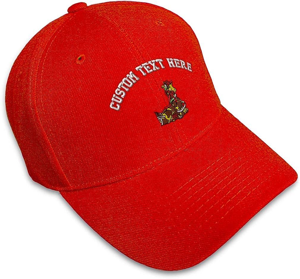 Custom Baseball Cap Christmas Giraffe Embroidery Dad Hats for Men /& Women