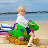 Labebe Kids Green Rocking Dinosaur with Wheels