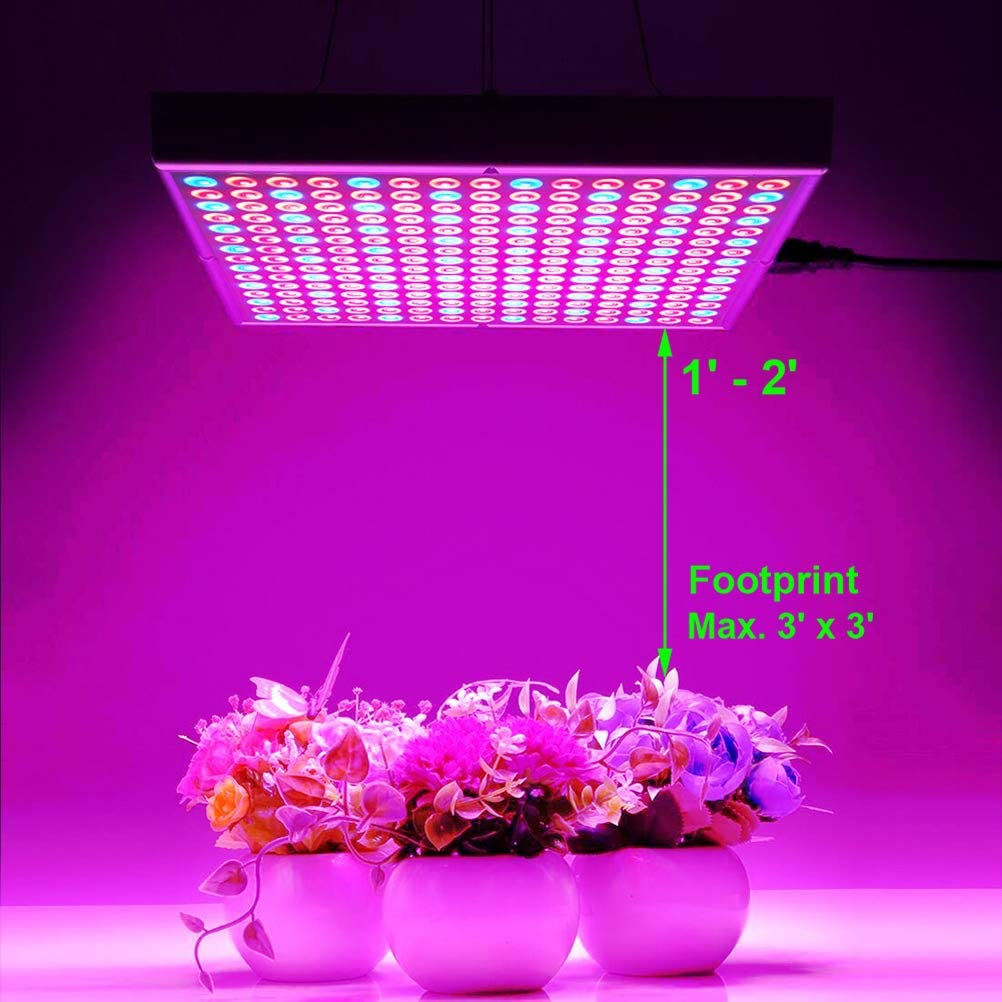 2 Pack Hytekgro LED Grow Light 45W Plant Lights Red Blue White Panel Growing Lamps for Indoor Plants Seedling Vegetable and Flower