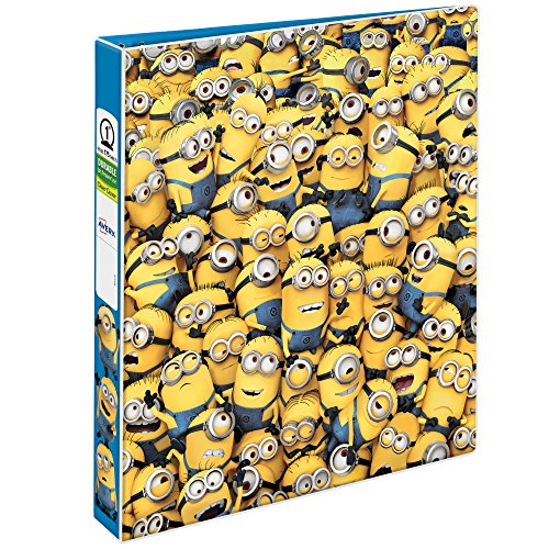 "Binder Durable Ring Round (Avery Despicable Me Durable View Binder, 1"" Round Rings, 175-Sheet Capacity, Sea of Minions (28300))"