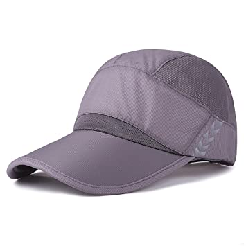 0ca0f70b6c8b2 Baseball Cap Quick Dry Lightweight Running Hat Waterproof Breathable of Sun  Cap Long Large Bill Sport ...